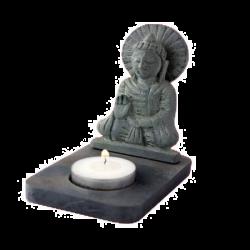 Świecznik ze steatytu - Budda