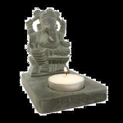 Świecznik ze steatytu - Ganesh