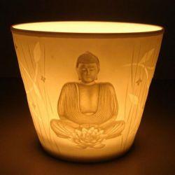 Porcelanowy świecznik wotywny - Budda 7 cm