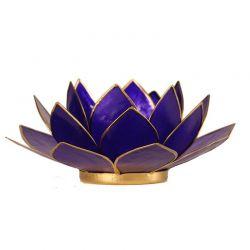 Świecznik kwiat lotosu granat - mały, tealight