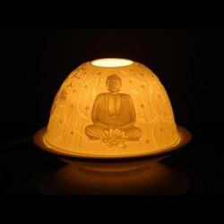Porcelanowy świecznik Budda 11,5x7,8