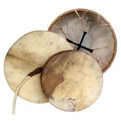 Bęben szamański z koziej skóry gładki - 60cm+pałka
