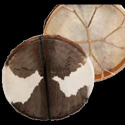 Bęben szamański z koziej skóry włosy- 40cm + pałka