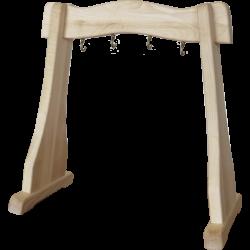 Drewniany statyw na dzwonki Koshi