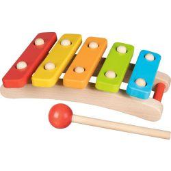 Drewniane cymbałki, ksylofon kolorowe dźwięki Goki