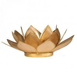 Świecznik Kwiat Lotosu beżowy - mały na tealight