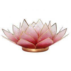 Świecznik Kwiat Lotosu jasny czerw.-mały,tealight