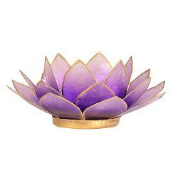 Świecznik Kwiat Lotosu jasny fiolet -mały,tealight