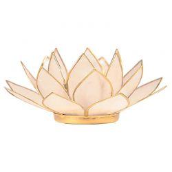 Świecznik Kwiat Lotosu naturalny - mały, tealight