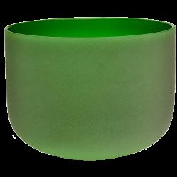 Misa kryształowa zielona 11 cali - ton F