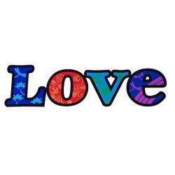 Naklejka na szybę - Love 12 cm