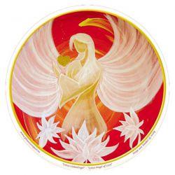 Naklejka na szybę - Anioł Kwiat Lotosu