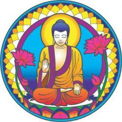 Naklejka na szybę - Budda