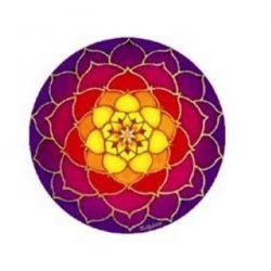 Naklejka na szybę - Kwiat Lotosu Wschód Słońca