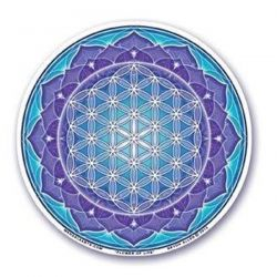 Naklejka na szybę - Niebieski Kwiat Życia