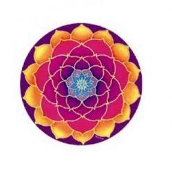 Naklejka na szybę - Złoty Kwiat Lotosu