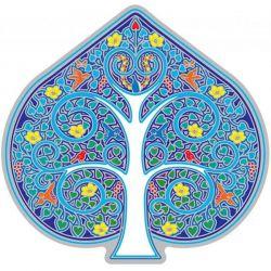 Naklejka na szybę - Niebieskie Drzewo Życia