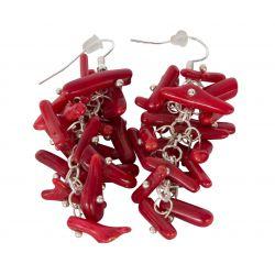 Kolczyki z Czerwonym Koralem