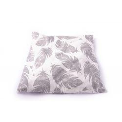 Poduszka mała bawełniana z łuską gryki (liście)