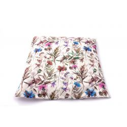 Poduszka mała lniana z łuską gryki (łąka)
