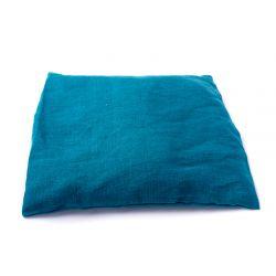 Poduszka mała lniana z łuską gryki (indygo)