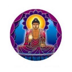 Naklejka na szybę - Budda światła
