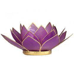 Świecznik Kwiat Lotosu liliowy- mały, na tealight