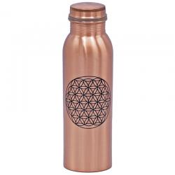Butelka miedziana - kwiat życia 750ml
