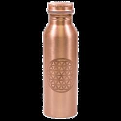 Butelka miedziana  kwiat życia jasny 750