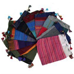 Różnokolorowe saszetki bawełniane