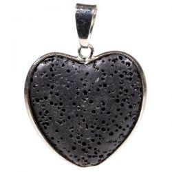 Wisiorek Serce kamień wulkaniczny - 3 cm