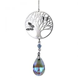 Zawieszka drzewo życia i tęczowa kropla - fiolet