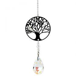 Zawieszka drzewo życia i tęczowa kropla - biały
